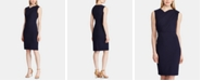 Lauren Ralph Lauren Ruched Sleeveless Crepe Dress